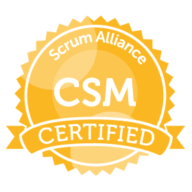 Bild: Certificate Badge CSM, Scrum Alliance