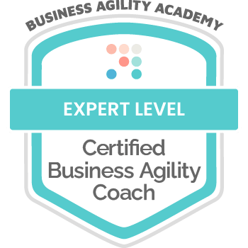 Certification Badge: Business Agility Academy, Certified Business Agility Coach - Expert Level